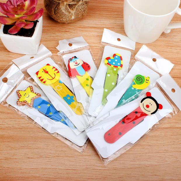 木制书签 小学生奖品 韩国 可爱 创意文具 小学生学习用品 5g