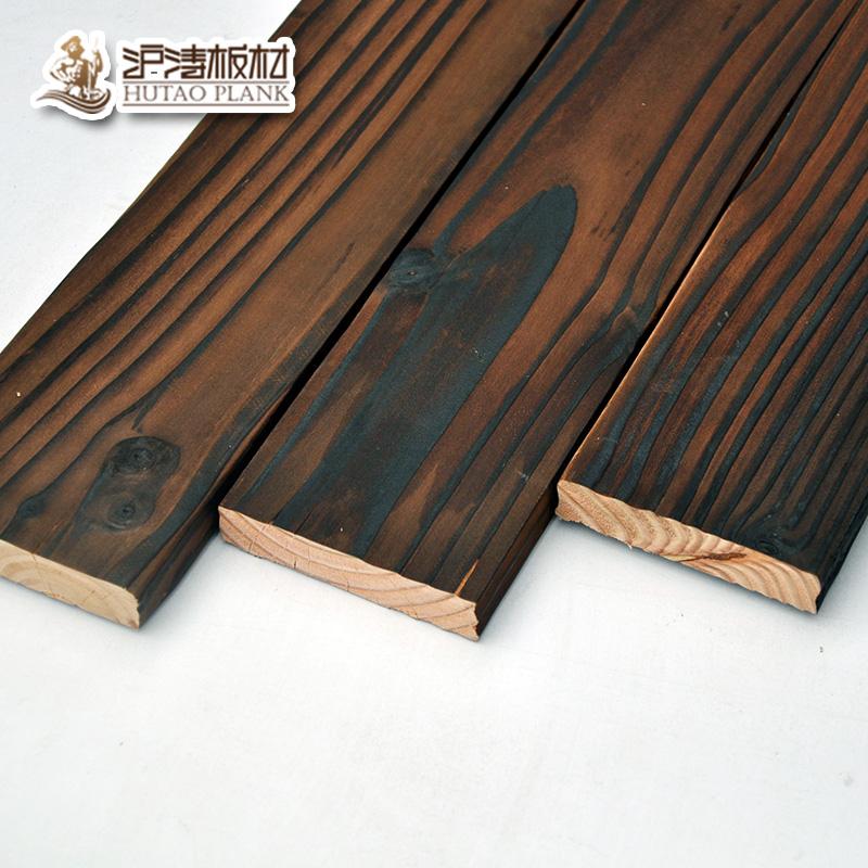 沪涛 花旗松碳化木地板户外防腐木阳台吊顶室外护墙板木板9020