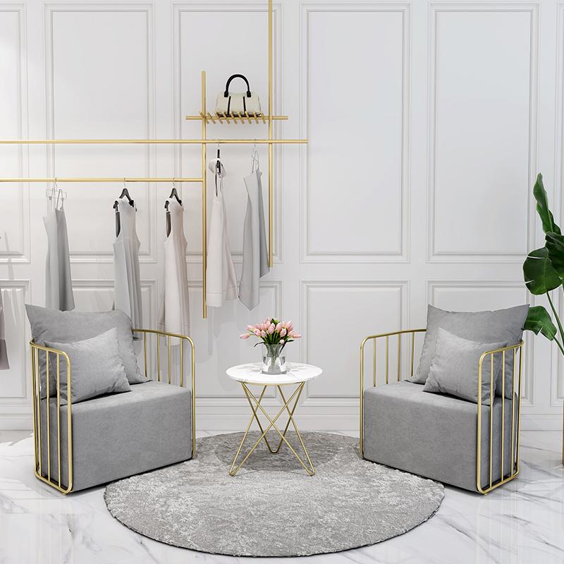 北欧服装店沙发网红ins风小沙发椅简约现代单人双人个性店铺沙发