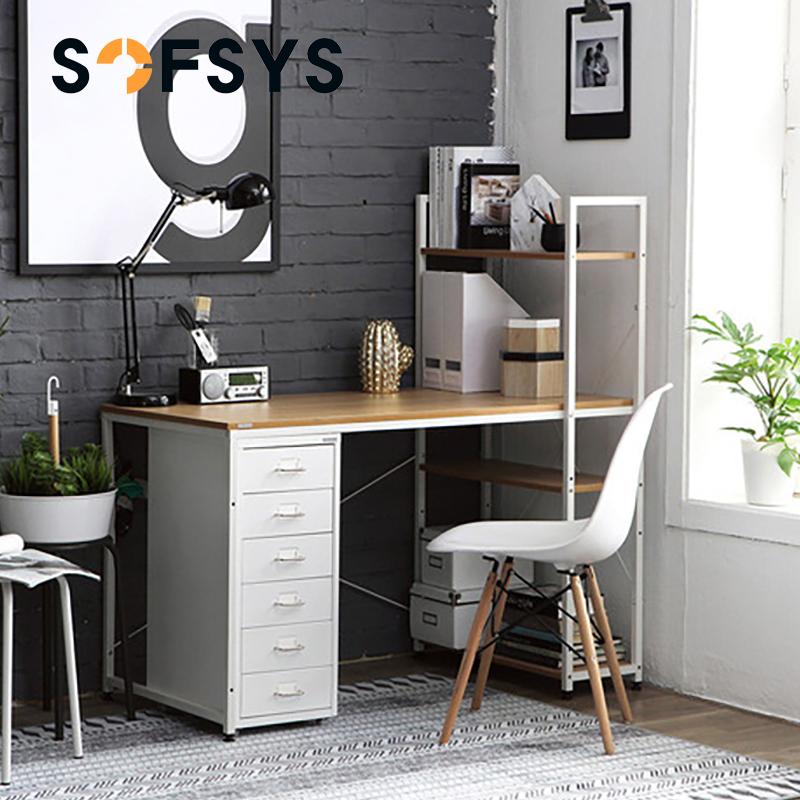 電腦桌臺式家用書桌書架組合小戶型電腦檯簡約學生寫字檯辦公桌子