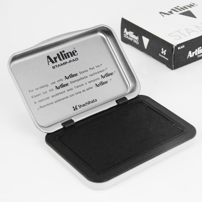 日本旗牌雅丽Artline办公用品小号印台40*63mmEHJ-1印泥
