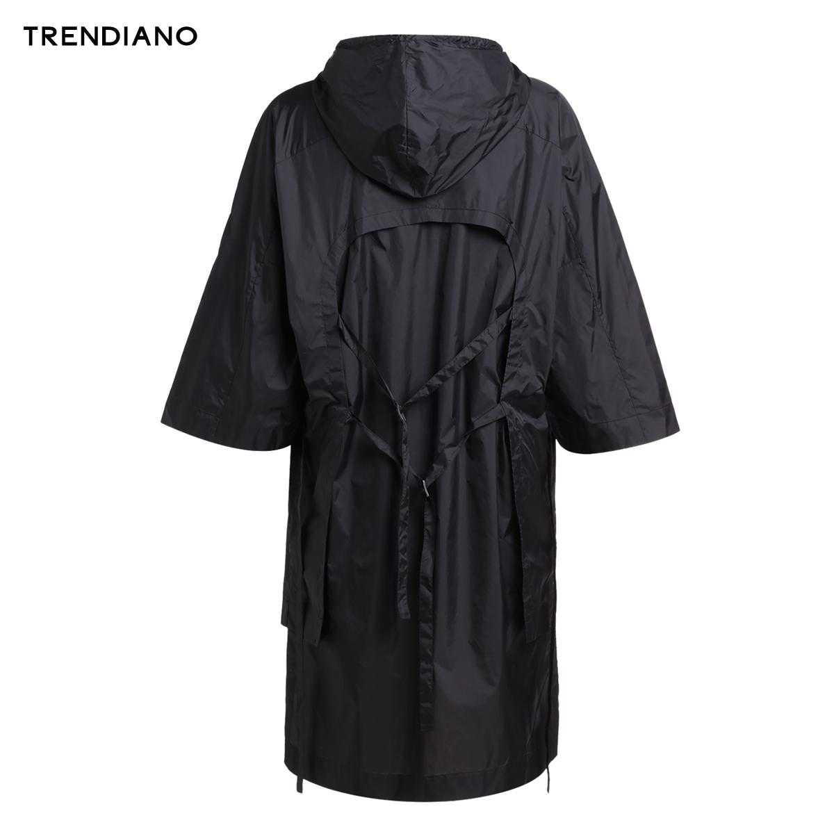 3JI2042470 新男装夏装潮流宽松字母不规则长款风衣外套 TRENDIANO