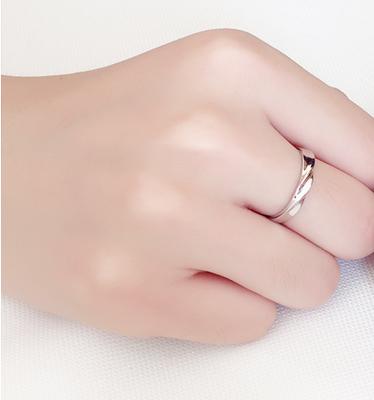 七夕节礼物 小清新爱心六爪钻戒指开口女款日韩简约首饰