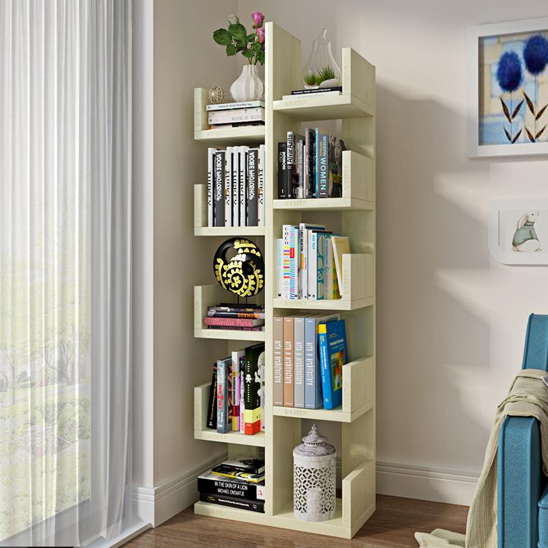 书架落地创意树形学生书柜简约现代儿童组装收纳架客厅简易置物架