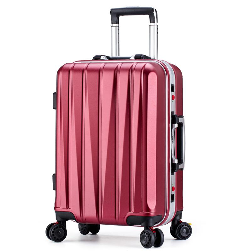 结婚箱子新娘陪嫁箱铝框拉杆箱万向轮红色行李箱婚庆密码箱旅行箱