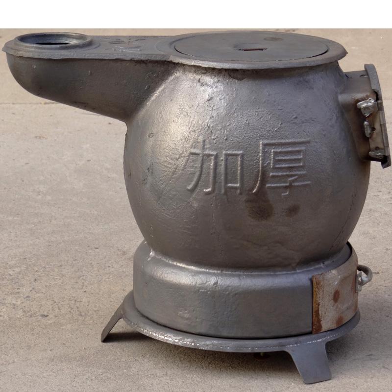炸弹炉 铸铁炉子家用取暖烧水做饭农村烧柴烧煤炉子生铁大肚炮弹