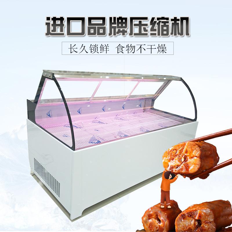 可定制大理石鸭脖柜熟食柜串串柜卤菜保鲜展示柜周黑鸭柜鲜肉生鲜