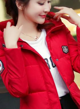 2020冬装新款女外套韩版修身短款棉衣棉服大码女装连帽小棉袄加厚