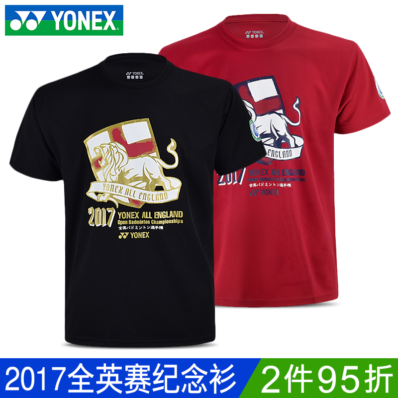 YONEX尤尼克斯 正品夏季男羽毛球服上衣短袖套装透气速干苏迪曼杯