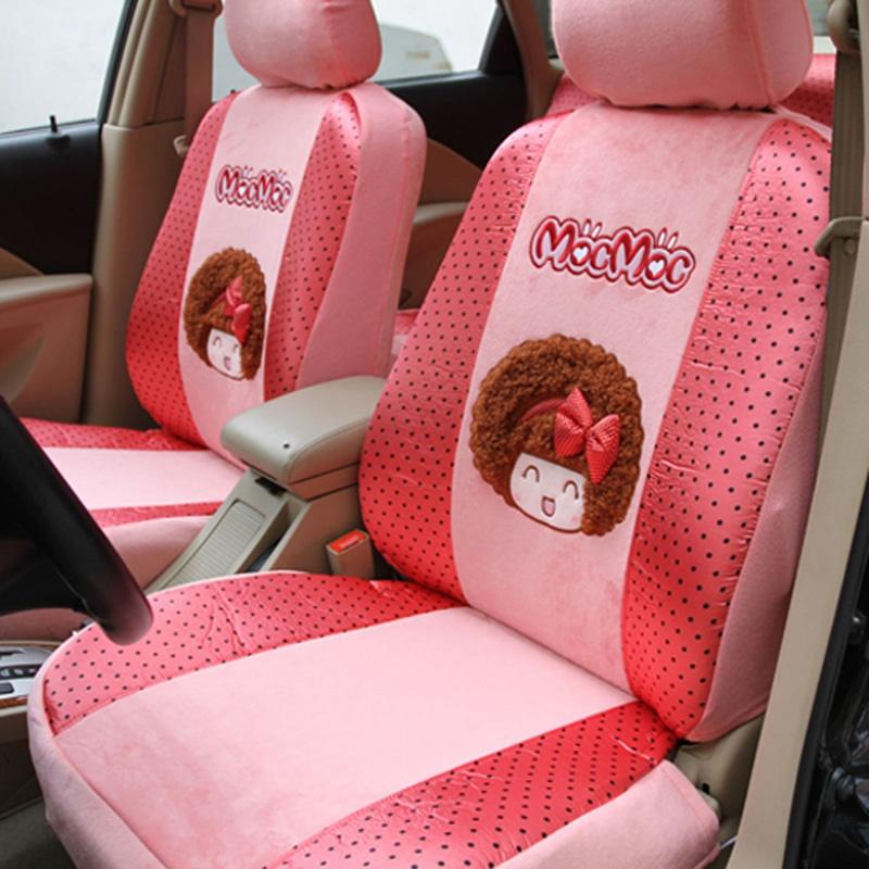 摩丝娃娃 汽车卡通春季座套夏季可爱坐垫套四季通用女性车套全包