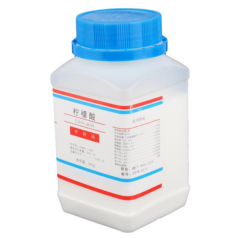 柠檬酸除垢剂家用清洁剂加湿器水壶除水垢含量分析纯500克/瓶包邮