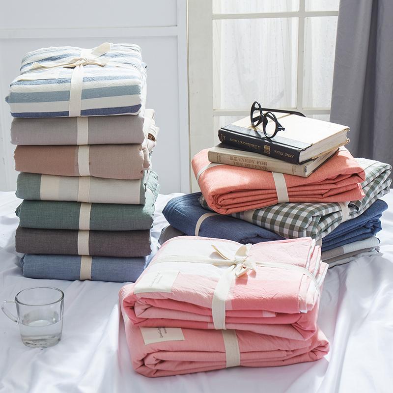 水洗棉被套单件 全棉单双人男女纯棉学生宿舍冬季1.5米1.8被子罩
