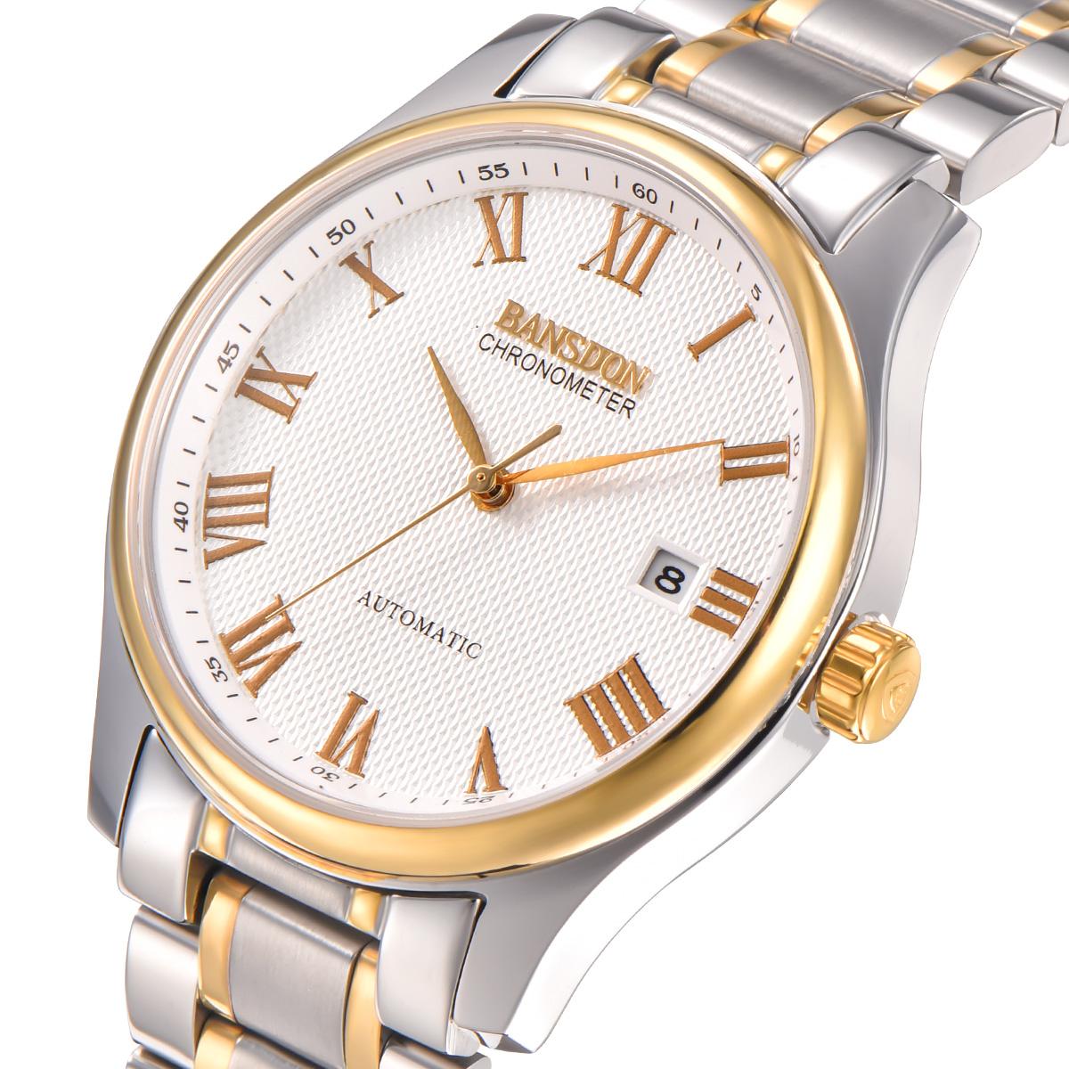 男士手表全自动机械表镂空防水男表精钢复古商务腕表