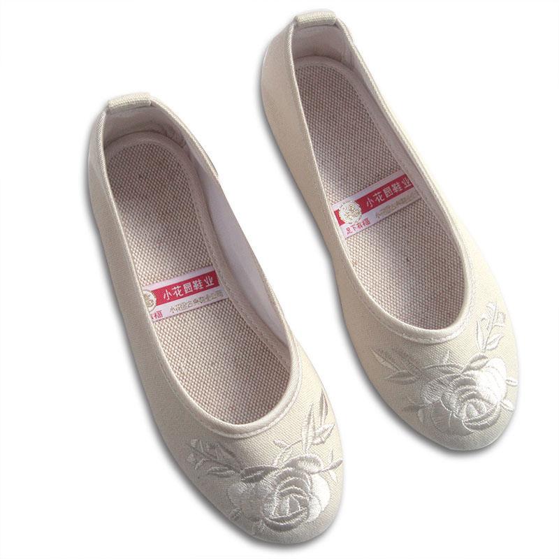 包郵新款小花園繡花鞋民族風鞋老北京布鞋女單鞋A6009-1
