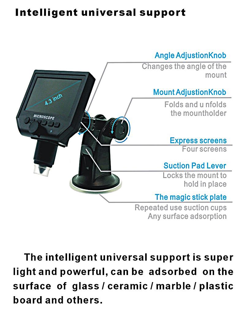手机维修显微镜 数码显微镜 电子显微镜 高清600倍带屏工业显微镜
