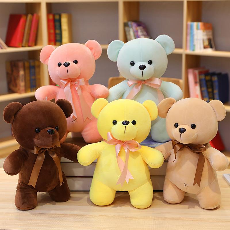 儿童小熊玩具毛绒公仔泰迪熊玩偶女孩可爱抛洒布娃娃生日礼物女生