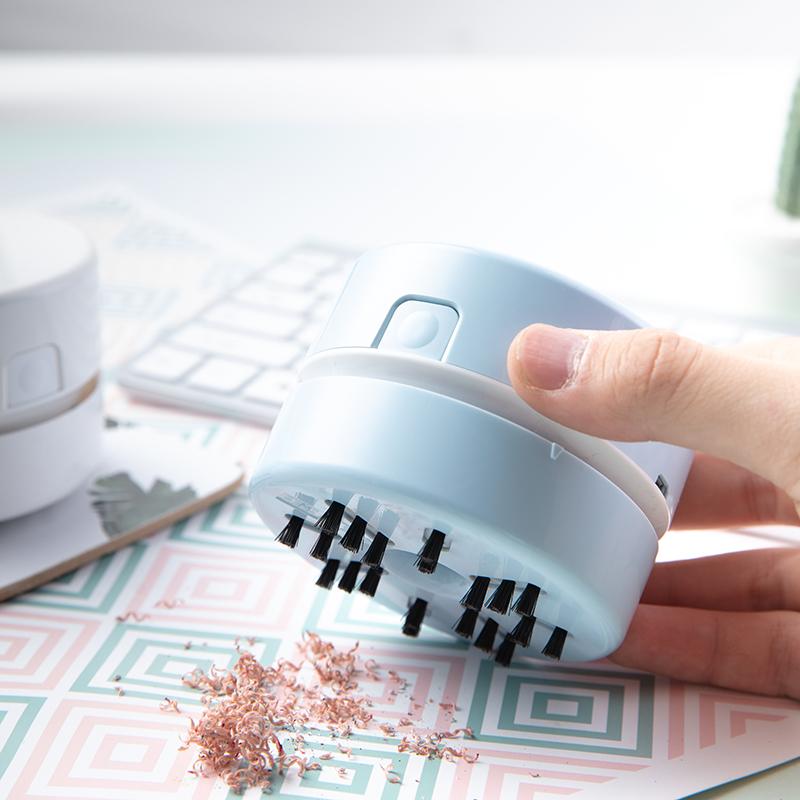 得力桌面电动吸尘器迷你键盘清洁神器强力清理纸屑灰尘橡皮屑包邮