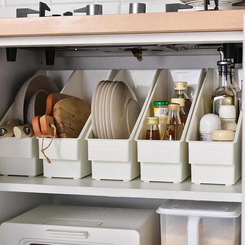 厨房收纳盒整理盒厨具锅具收纳置物架下水槽调料瓶神器橱柜收纳架主图