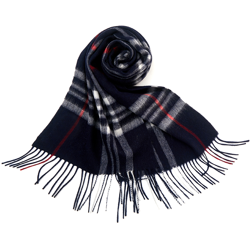 恒源祥100%羊毛格子围巾2020新款英伦经典男士秋冬季百搭保暖围脖主图