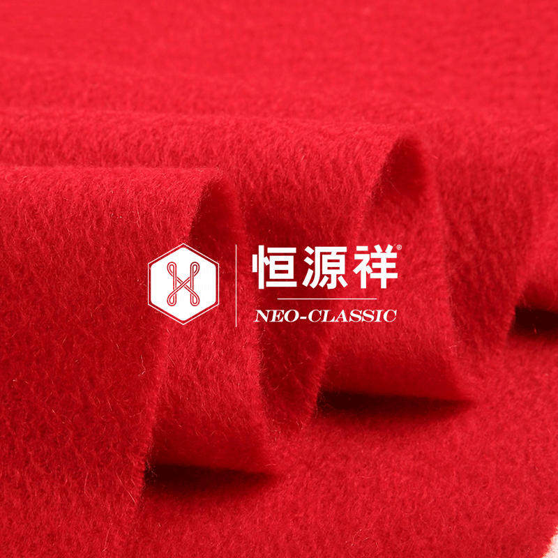大红色围巾女秋冬季团购定制logo刺绣中国红男女活动礼品羊毛围巾主图