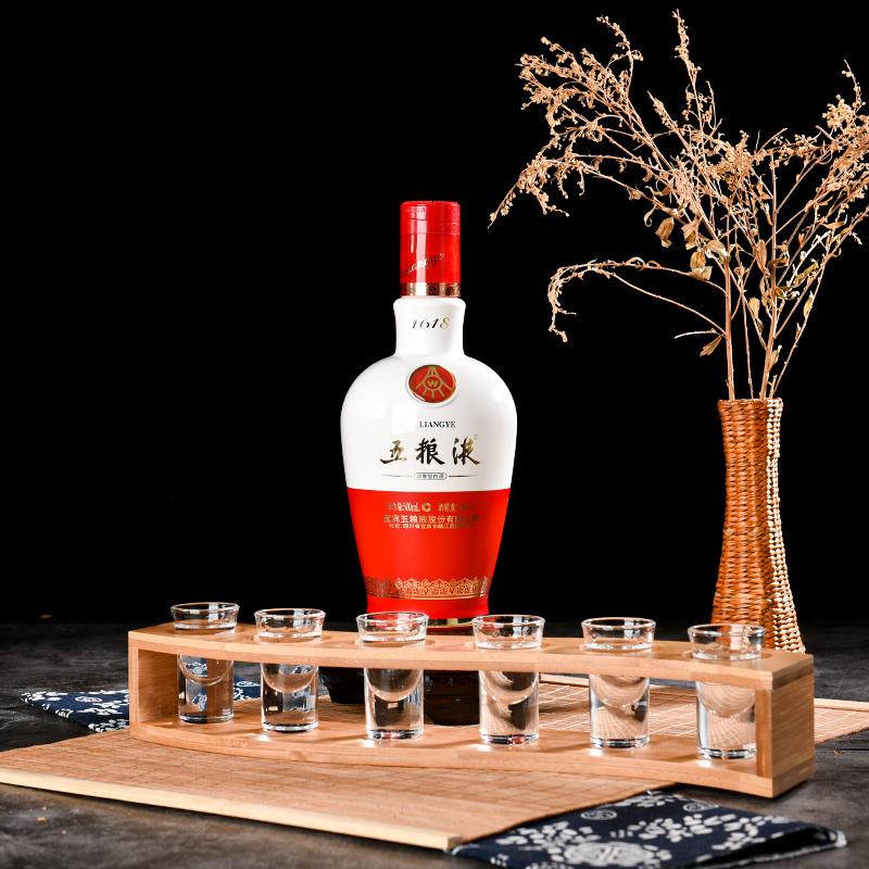 【真品保障】52度五粮液 1618 白酒500ml 白酒水送礼浓香名酒