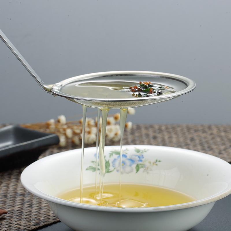 304不锈钢滤油勺厨房油隔去油脂小油捞漏勺 家用豆浆果汁过滤网筛