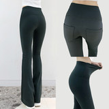 Sports pants summer thin section female 2020 new high waist sagging wide-leg pants yoga casual pants straight stretch pants