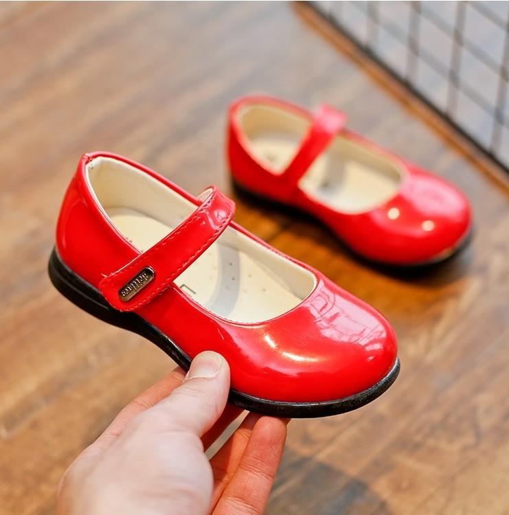 女童鞋春款儿童皮鞋船鞋秋鞋瓢鞋单鞋红色公主鞋2017黑色演出鞋