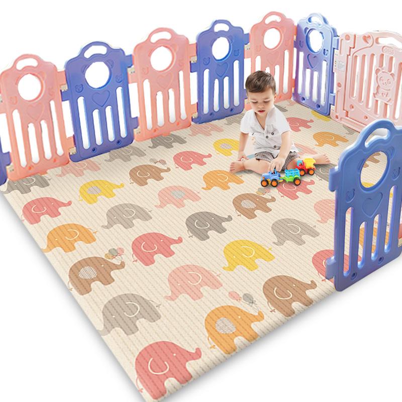 帕克伦宝宝爬行垫加厚环保无味泡沫地垫婴儿客厅家用儿童爬爬垫