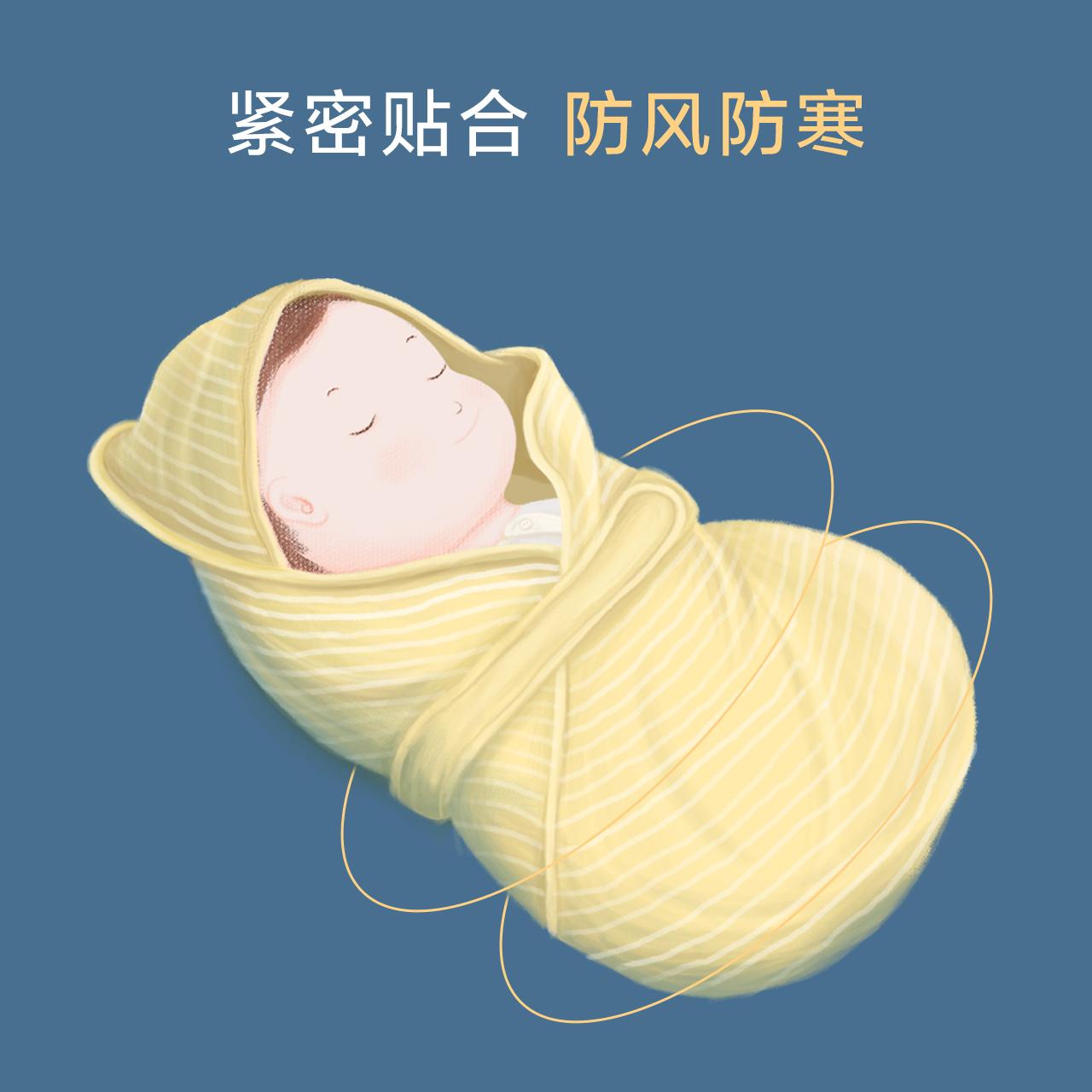 米乐鱼 婴儿抱被新生儿襁褓包被外出抱被抱毯初生包被宝宝用品