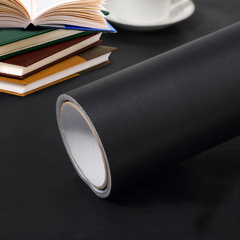 米壁紙自粘宿舍墻紙家用臥室背景墻壁紙 10 純黑色自粘貼紙墻紙防水