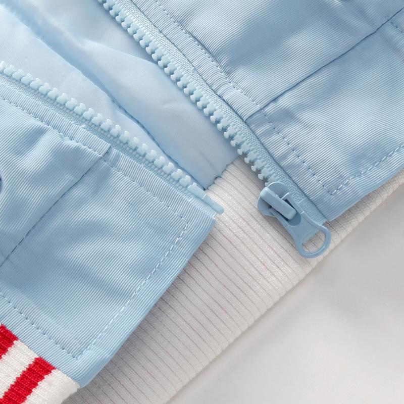 优贝宜 冬装儿童外套保暖夹克衫冬季男童女童夹棉加厚立领拉链衫