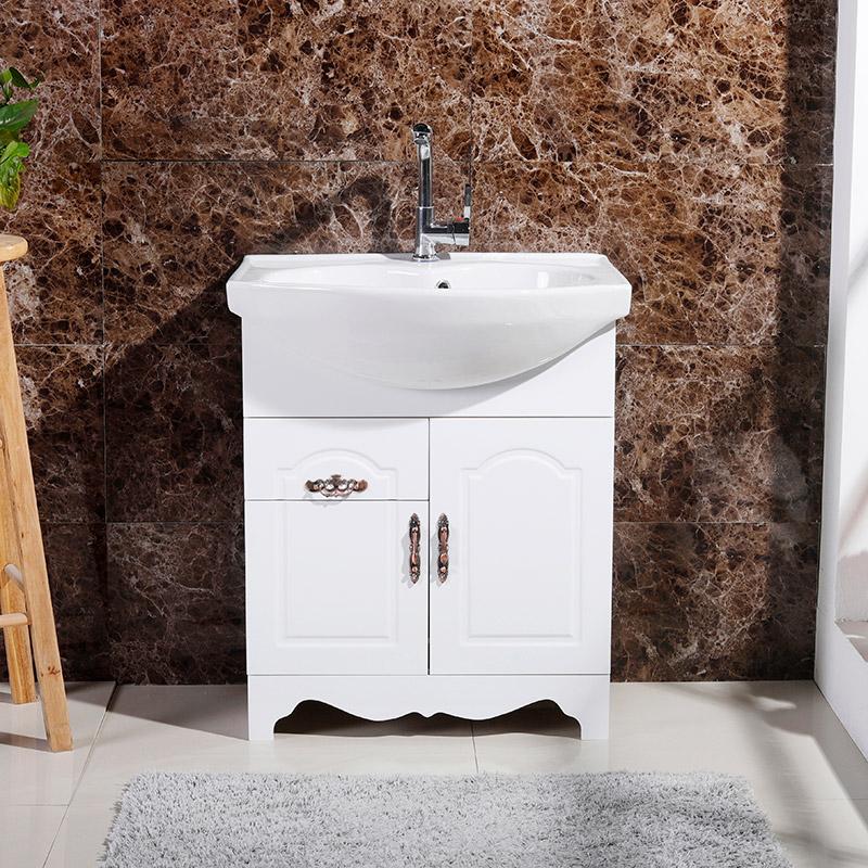 pvc 浴室柜组合落地式欧式仿古小户型卫生间洗漱台洗脸盆柜卫浴柜