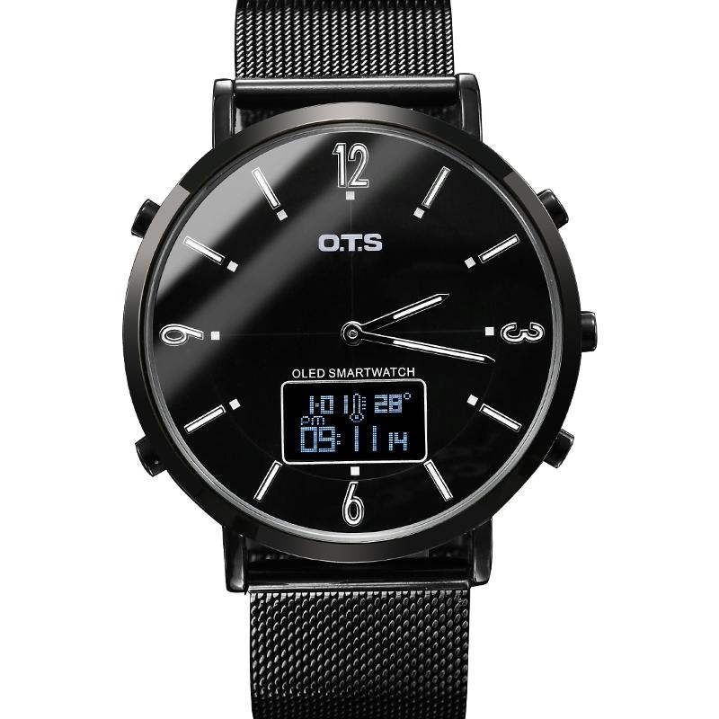 新款智能运动计步防水多功能机械潮流电子手表男学生 2019 男士手表