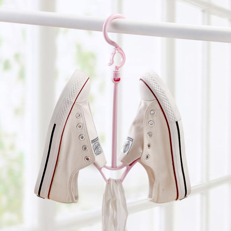防风双钩阳台晒鞋架多功能挂鞋子的衣架晾鞋架挂钩晾鞋架子晾晒架