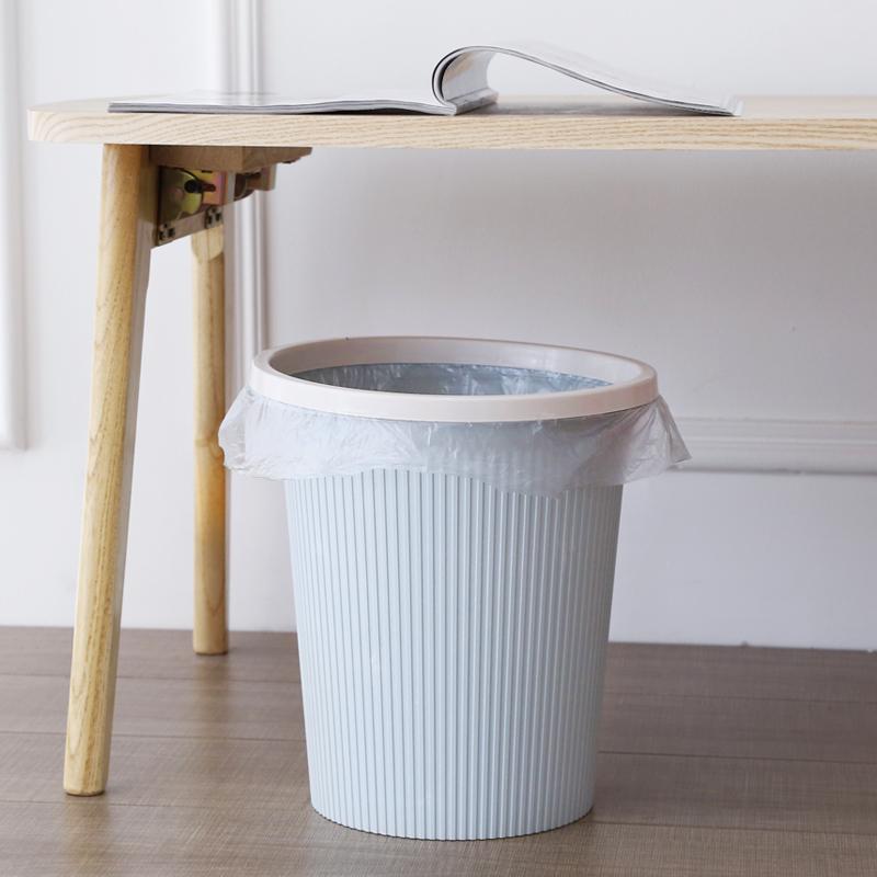 小号垃圾桶家用厨房客厅卫生间厕所塑料无盖纸篓欧式创意分类筒子