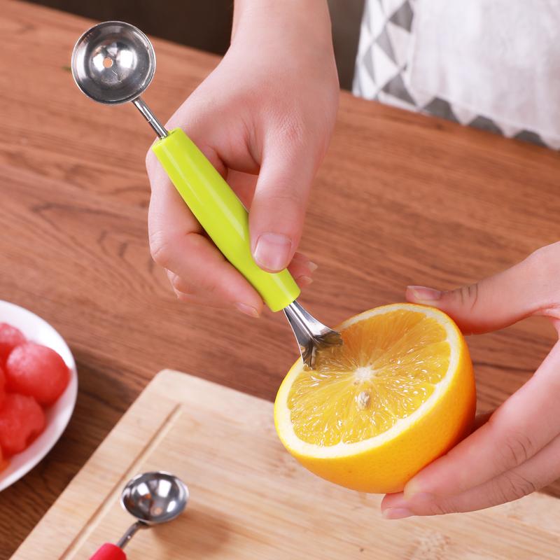 不锈钢水果挖球器西瓜挖球勺雕花刀切果器拼盘冰淇淋工具西瓜勺