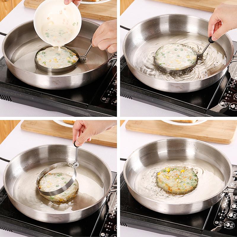 厨房不锈钢煎蛋器模具心形模具套装煎蛋器饭团模具创意厨房小工具