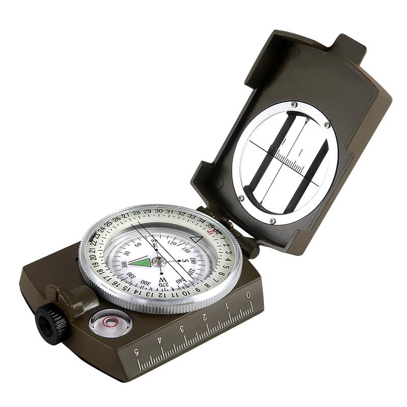 艾斯基EK1001户外指南针美军多功能指南针指北针地质罗盘仪防水