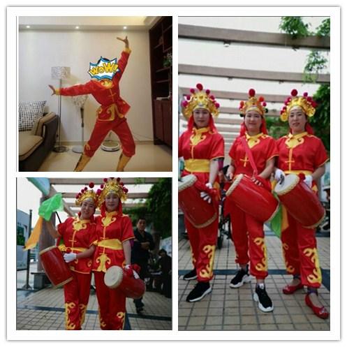 促销舞龙舞狮服装女打鼓服男士秧歌服锣鼓陕北腰鼓民族赛龙舟演出