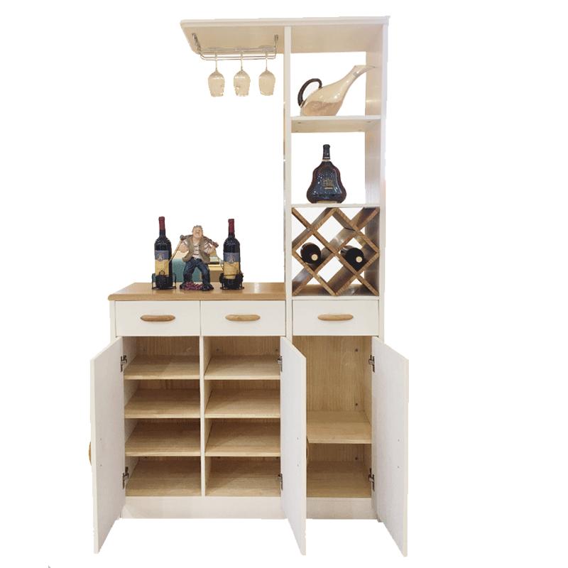 北欧全实木储物酒柜门厅柜简约现代客厅装饰玄关柜隔断柜屏风鞋柜