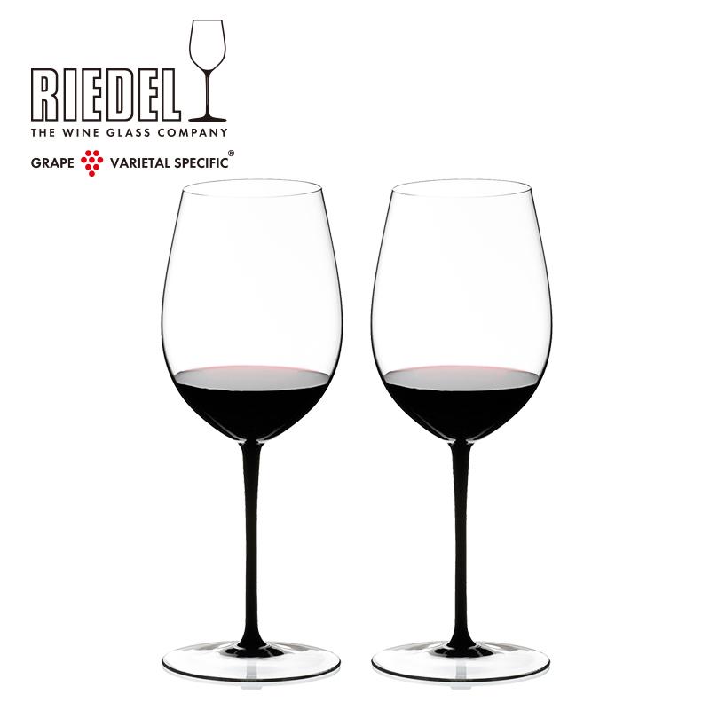 奧地利RIEDEL黑領結波爾多手工紅葡萄酒杯無鉛水晶玻璃高腳