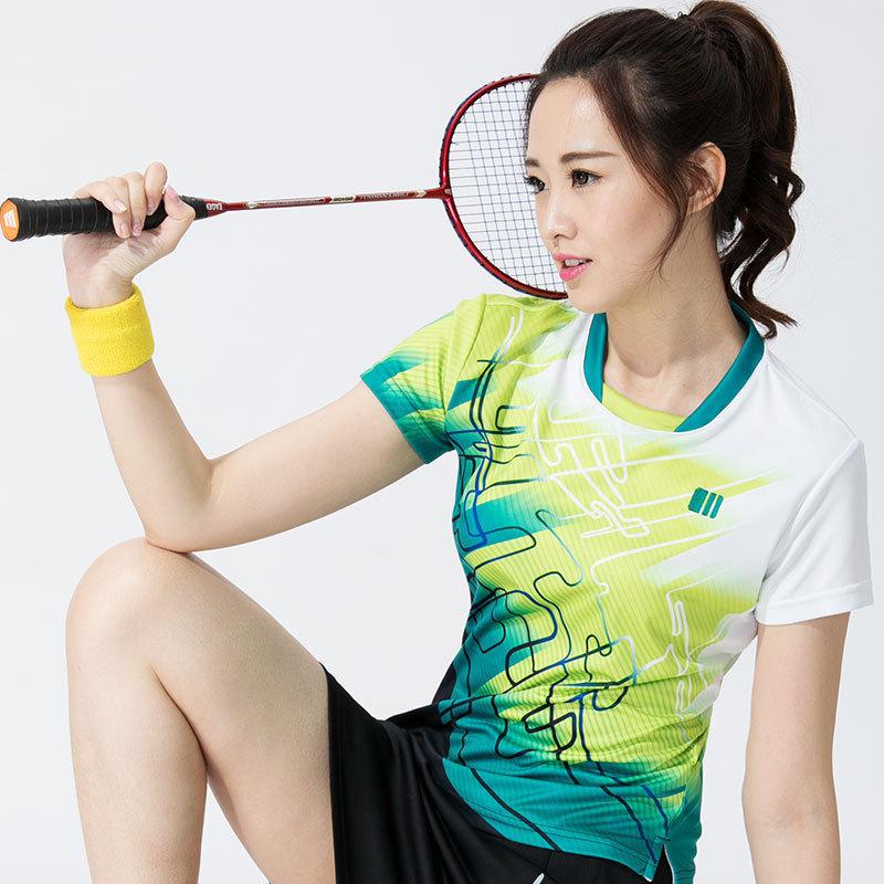 單雙號羽毛球服女款圓領上衣修身男士速幹短袖運動服球衣t恤