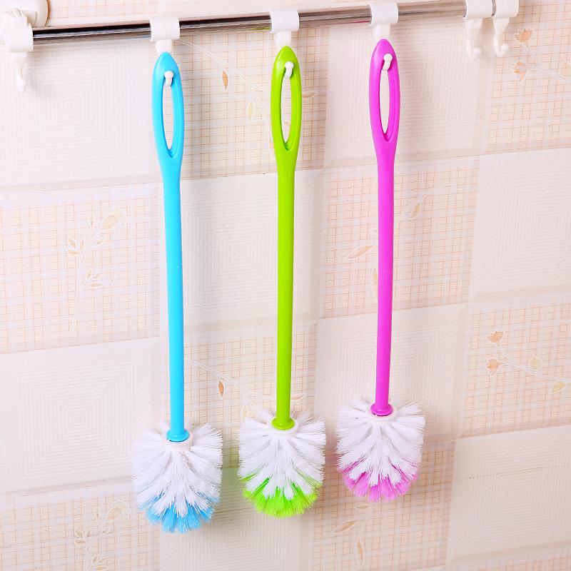 家居用品长柄塑料洁厕马桶刷卫生间坐便器可挂式清洁洗厕所刷子