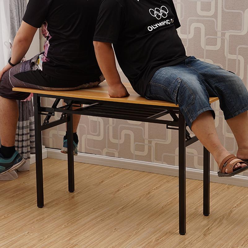 折叠餐桌长方形桌子家用小型活动户外培训便携简易长条桌子电脑桌