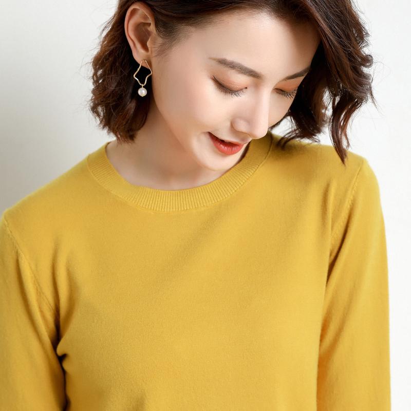 0  柔软羊绒圆领套头羊毛毛衣短款 100  品牌清仓第二件 元