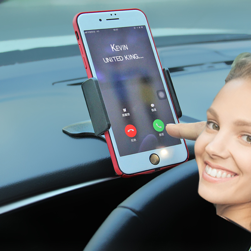 车载手机支架仪表台小车导航支撑架汽车用卡扣式夹手机架 hud 抬头