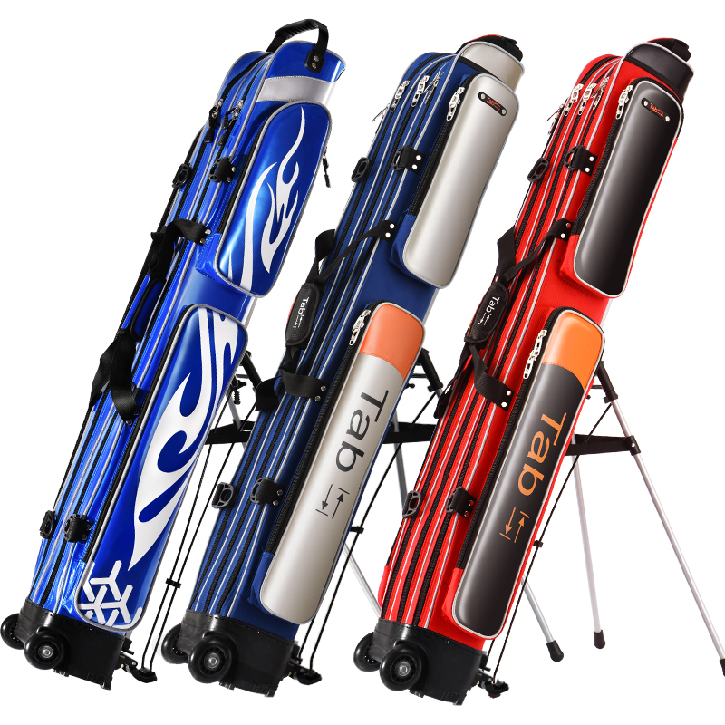 Tab渔具包鱼竿包硬壳防水鱼包杆包多功能竿包钓鱼包鱼具包1.25米