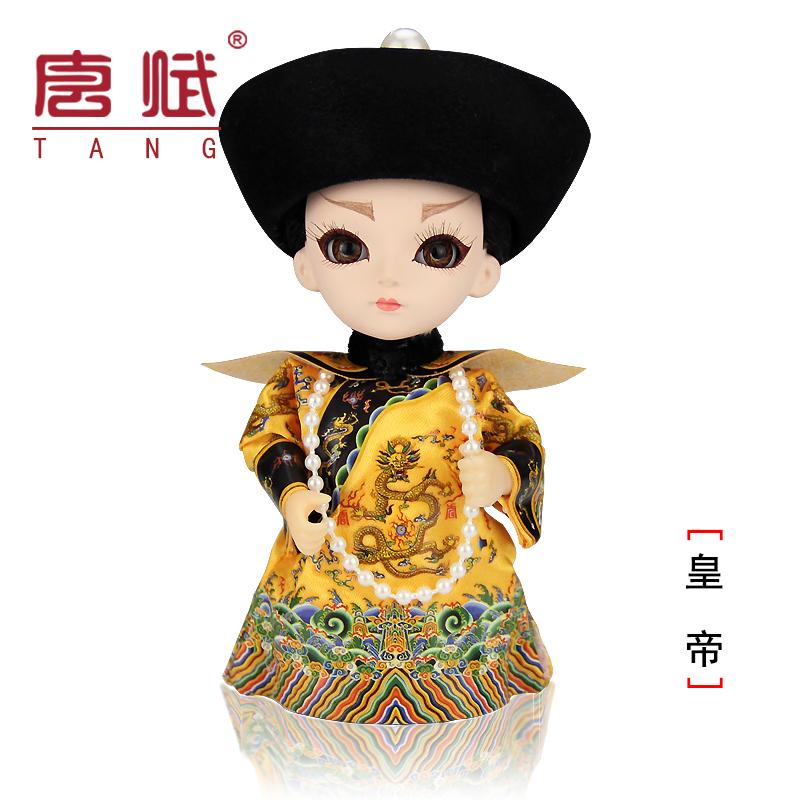绢人故宫娟人偶娃娃北京特产戏剧脸谱摆件俏格格中国风纪念品礼物