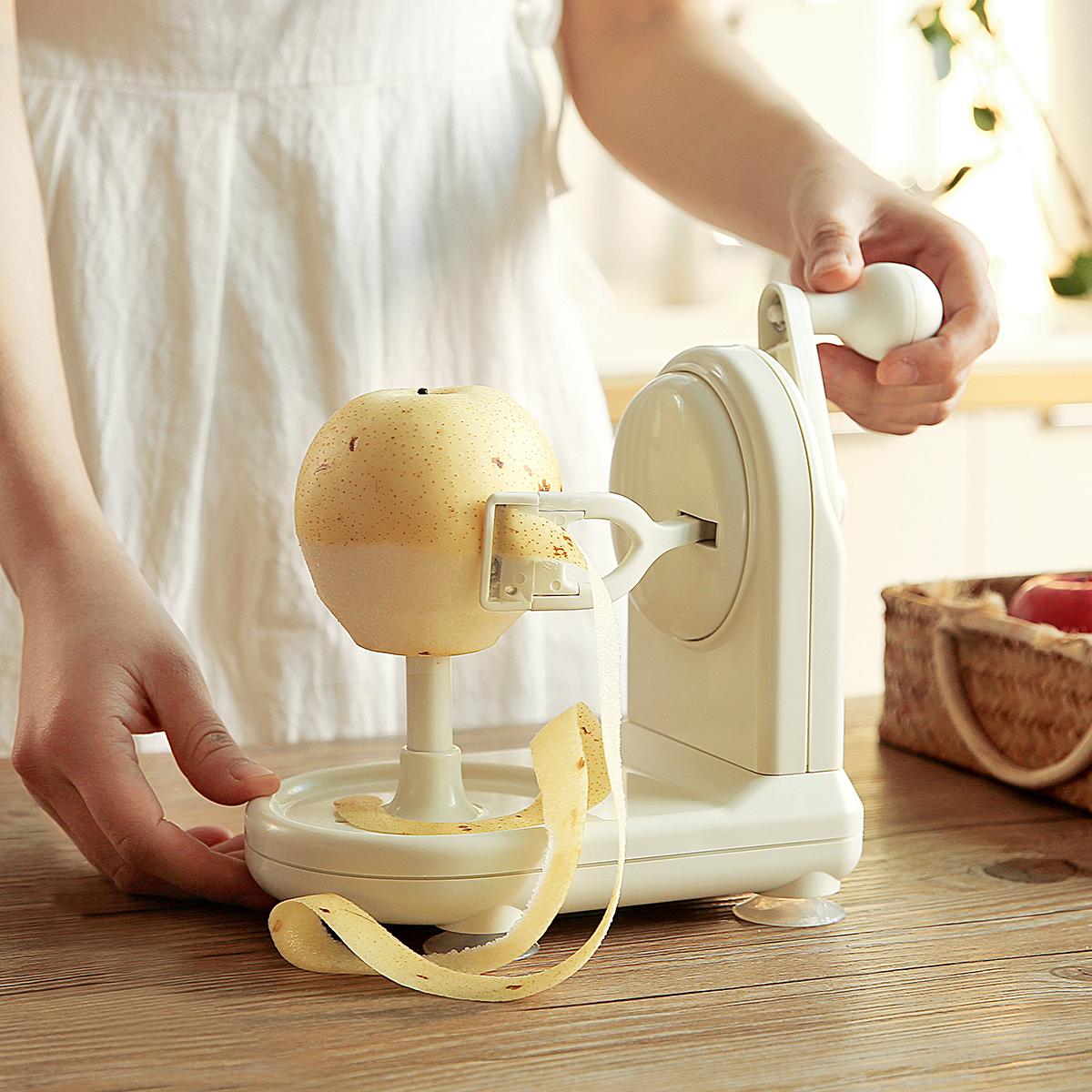日本多功能削皮機蘋果削皮器快速去水果皮器削梨皮手搖水果削皮刀